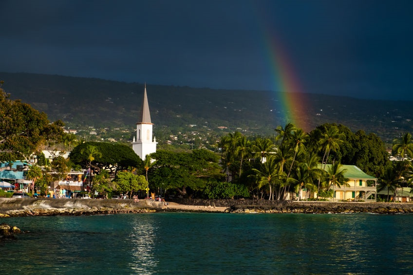 city of Kailua Kona, Big Island, Hawaii