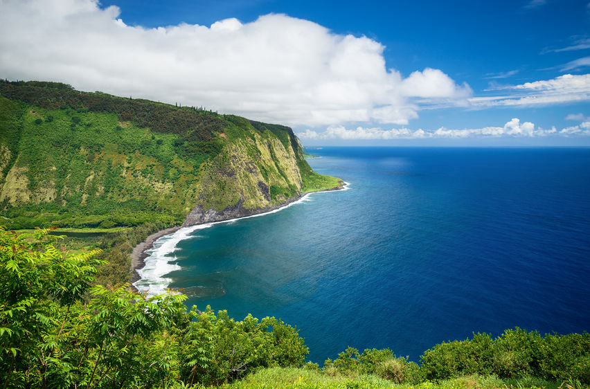 Waipio Valley Lookout view on Big Island, Hawaii